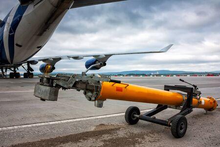 Towbar большого самолета широкофюзеляжного
