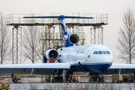 Repair and maintenance of passenger aircraft on the aviation technical base