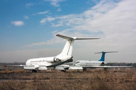 Storage old airplanes Фото со стока