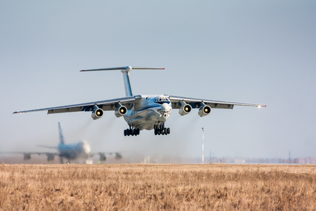 Take off of the wide body cargo aircraft