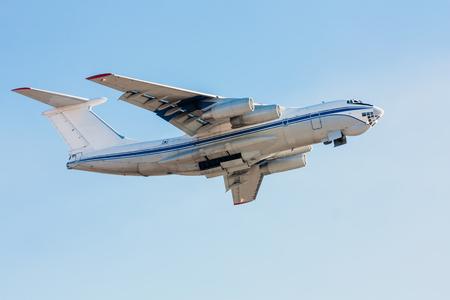 Wide body cargo plane in the air Фото со стока