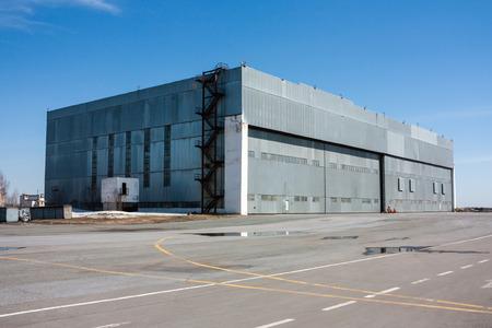 Aviation hangar at the airport Фото со стока