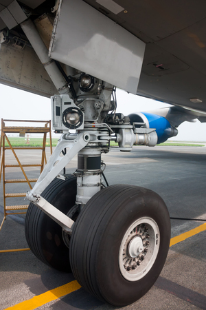 Nose landing gear of big wide body plane