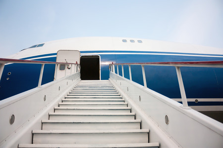 Boarding stairs at the airplane