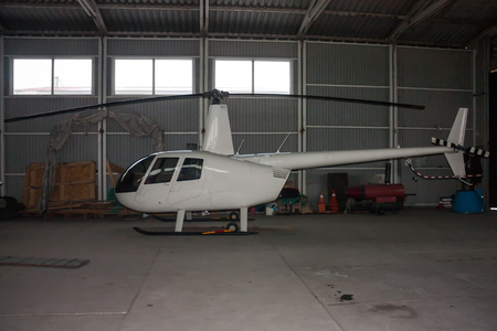 Small helicopter in the hangar