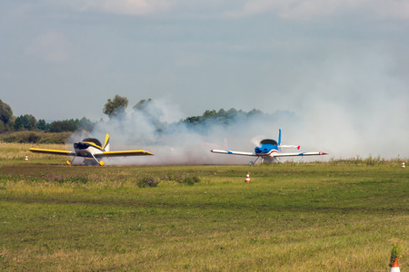 Start of sports aircraft Фото со стока - 105163136