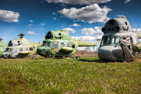Storage old helicopters