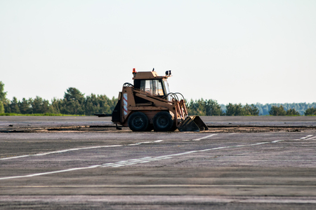 Mini wheel loader at the airfield