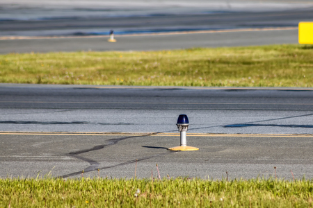 Taxiway, side row lights at the airport