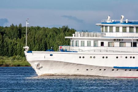 The front part of a river passenger ship Фото со стока - 99162258