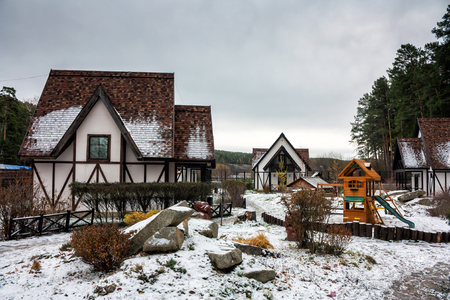 Winter in a traditional German village Фото со стока - 105449074