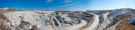 Panorama of a large quarry for marble Фото со стока - 106537186