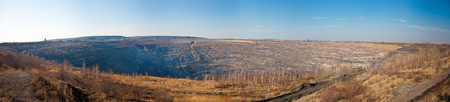 Panorama of a large quarry