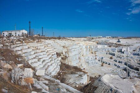 Big marble quarry on a clear day Zdjęcie Seryjne