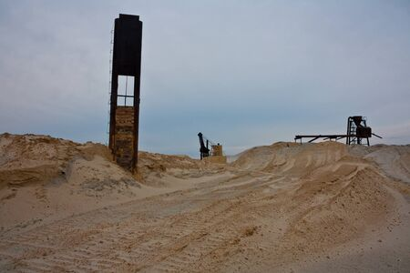 Sand quarry in the evening