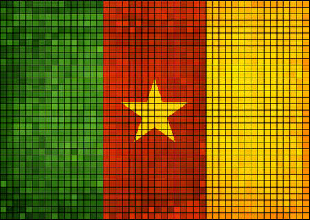 cameroonian: Abstract Mosaic Flag of Cameroon,  Cameroon flag pictures and vector,  Cameroon grunge mosaic flag,  The Cameroonian national flag Illustration