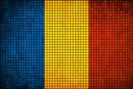 chadian: Abstract Mosaic Flag of Chad,  Chad flag pictures and vector,  Chad grunge mosaic flag