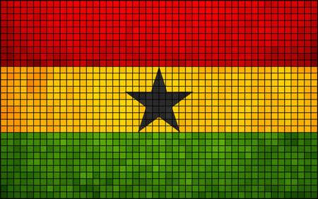 ghana: R�sum� Flag Mosa�que du Ghana Ghana photos et vecteur drapeau, le Ghana grunge mosa�que drapeau