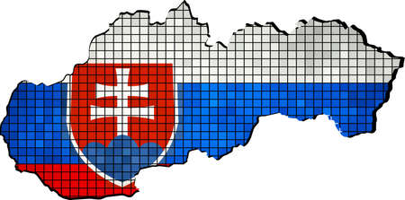slovakian: Slovakia map with flag inside, Slovakia map grunge mosaic Vector Map of Slovakia Map of Slovakia - Slovakia national flag Slovakia Map On Slovakia Flag Drawing, grunge And mosaic Flag  Slovakian Flags in mosaic