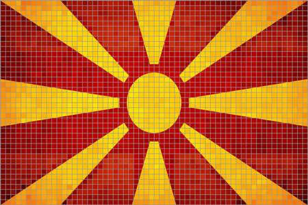 macedonian: Abstract Mosaic flag of Macedonia,  The Macedonia grunge flag, Macedonian grunge mosaic flag Illustration
