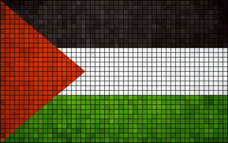 palestinian: Abstract Mosaic Flag of Palestine,  Palestinian flag pictures and vector,  The flag of Palestine - grunge mosaic Illustration