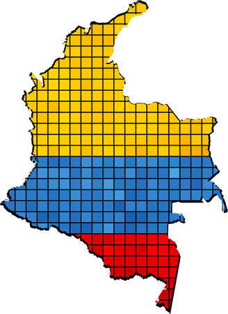 colombia: Colombia map with flag inside,  Colombia\