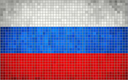 rnabstract: Abstract Mosaic flag of Russia