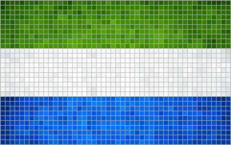 leone: Abstract Mosaic Flag of Sierra Leone,  Sierra Leone flag pictures and vector,  Sierra Leone grunge mosaic flag