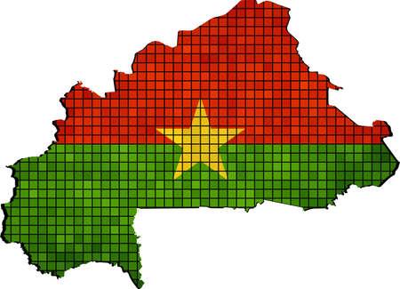 burkina faso: Burkina Faso map with flag inside, Abstract Mosaic Burkina Faso flags and map,  Burkina Faso grunge mosaic flag Illustration