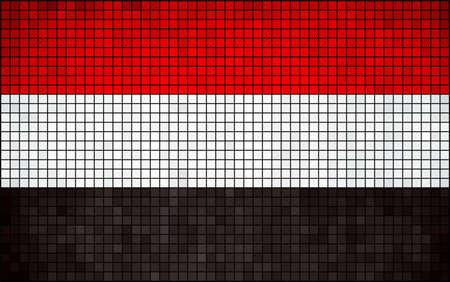yemen: Abstract Mosaic Flag of Yemen,  Yemen flag pictures and vector,  Yemenian Flags,  Yemen grunge mosaic flag