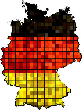 deutschland: Germany map with flag inside,  Vector Maps of Germany - Deutschland The national flag & map of Germany Abstract Mosaic Grunge Germany Flag