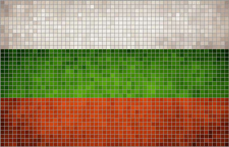 bulgaria: Abstract mosaic flag of Bulgaria,  Bulgarian flags,  The National flag of Bulgaria. Abstract - grunge mosaic vector