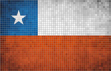 chilean: Abstract Mosaic Flag of Chile Chilean Flags grunge mosaic,  The National flag of Chile,  Abstract grunge mosaic vector Illustration