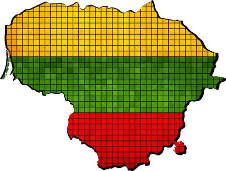 lithuania flag: Lithuania map with flag inside,  Grunge Lithuania flag and map,  Map of Lithuania - Lithuanian Flags,  Abstract Mosaic Grunge Lithuania Flag