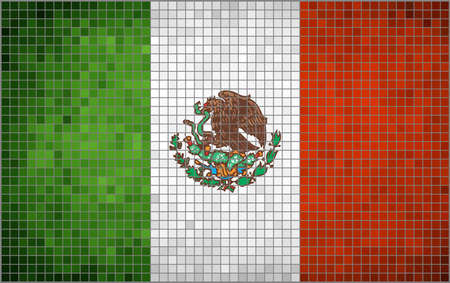 mosaic: Abstract Mosaic Flag of Mexico,  Mexican Flag Mosaic,  Grunge Flag of Mexico,  The National flag of Mexico,  Abstract - grunge mosaic vector.