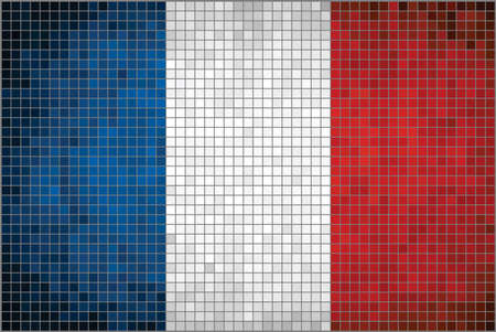 french flag: Abstract Mosaic flag of France The French Flag
