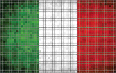 italia: Abstract Mosaic flag of Italia,  Mosaic Flag of Italy - bandiera dItalia,  The National flag of Italy,  Grunge mosaic vector Illustration
