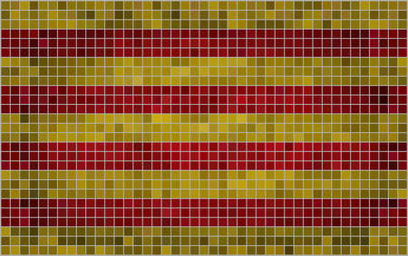 catalonian: Abstract Mosaic Flag of Catalonia,  Grunge Catalonia Flags,   Catalan independence flag,  Abstract grunge mosaic vector