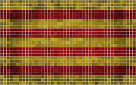 Abstract Mosaic Flag of Catalonia,  Grunge Catalonia Flags,   Catalan independence flag,  Abstract grunge mosaic vector