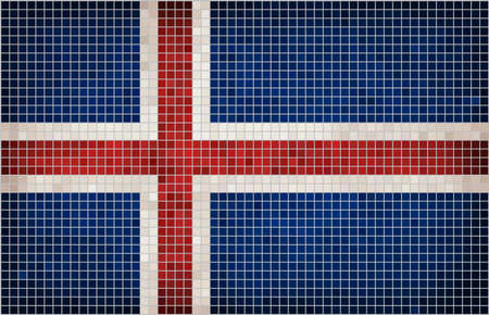 Abstract Mosaic Flag of Iceland,  The National flag of Iceland,  Grunge Icelandic flags,  Abstract grunge mosaic vector.