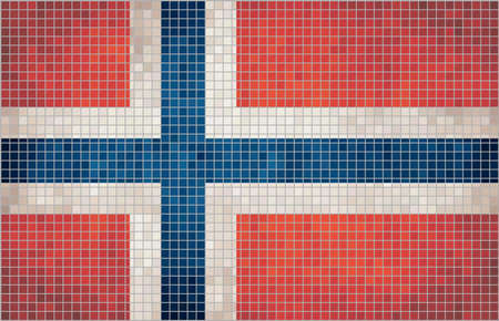norwegian flag: Abstract Mosaic flag of Norway,  Grunge Norwegian flag,  The National flag of Norway,  Abstract grunge mosaic vector.