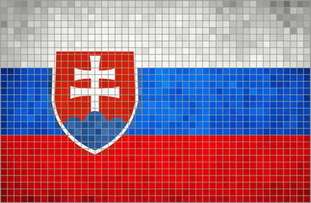 slovakian: Abstract Mosaic Flag of Slovakia,  Grunge Slovakia Flags,  Slovakian flag,  Slovakia Flag,  The national flag of Slovakia,  Abstract grunge mosaic vector