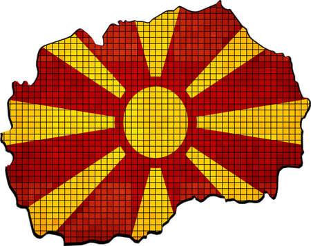macedonian: Macedonia map with flag inside, Abstract Mosaic Flag and map of Macedonia,  Macedonian grunge mosaic flag