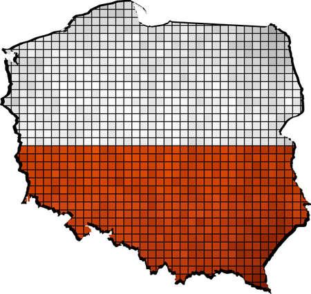 polish flag: Poland map with flag inside,  Grunge Polish Flag and map,  Map of Poland - Polands national Flags,  Polish Flags in mosaic, Abstract Mosaic Grunge Poland Flag Illustration