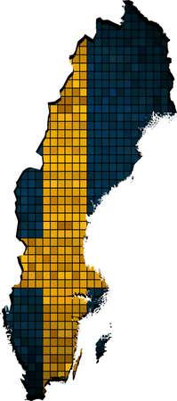 sweden map: Sweden map with flag inside,  Flag Swedish,  Map of Sweden - Sweden national flag, The national flag  map of Sweden,  Abstract Mosaic Grunge Sweden Flag