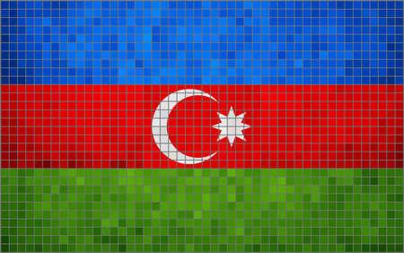 Abstract mozaïek vlag van Azerbeidzjan, Grunge Azerbeidzjaanse vlaggen, Azerbaijanian vlag, abstract grunge mozaïek vector Stockfoto - 45092854