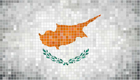 cyprus: Abstract mosaic flag of Cyprus,  Grunge Cyprus flags,  Cyprusian flag,  Abstract grunge mosaic vector Illustration