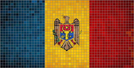 romanian: Flag of Moldova,  Abstract mosaic flag of Moldova,  Moldovan Flags,  Romanian - Republica Moldova,  Republic of Moldova,  Abstract grunge mosaic vector