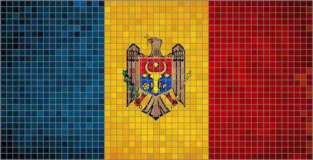 moldova: Flag of Moldova,  Abstract mosaic flag of Moldova,  Moldovan Flags,  Romanian - Republica Moldova,  Republic of Moldova,  Abstract grunge mosaic vector