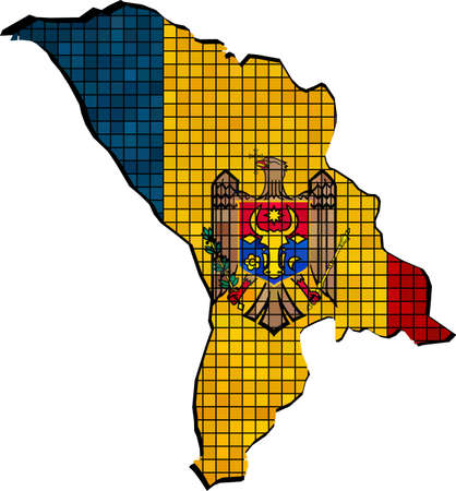 romanian: Moldova map with flag inside,   Abstract Mosaic flag of Moldova,  Moldovan map  flag,  Vector Maps of Moldova,  Romanian - Republica Moldova,  Abstract grunge mosaic vector